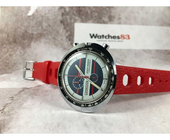 HEUER LEONIDAS EASY RIDER Reloj Cronógrafo suizo antiguo de cuerda Cal. EB 8420 *** CASI NOS ***
