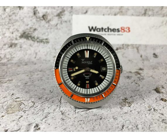 SQUALE 600 Reloj DIVER suizo antiguo automático Cal. Felsa 4007 GRAN DIÁMETRO 1920 FEET *** 60 ATMOS ***