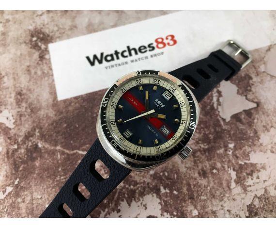 AMSA PARIS Vintage manual wind watch 17 jewels Blue Cal. HP Z171 *** DIVER ***