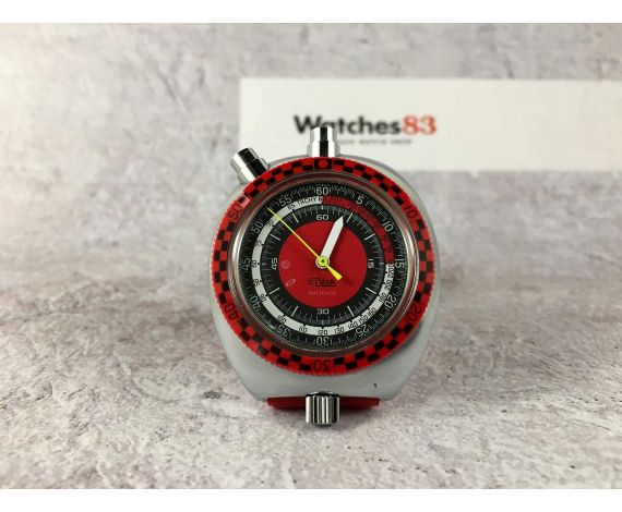 ELVIA CHRONO STOPWATCH Vintage manual wind Chronometer CHRONOSTOP Sports 70s COLLECTORS *** BULLHEAD ***