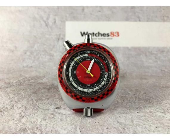 ELVIA CRONO STOPWATCH Antiguo de cuerda Chronometer CRONOSTOP Deportes 70s COLECCIONISTAS *** BULLHEAD ***