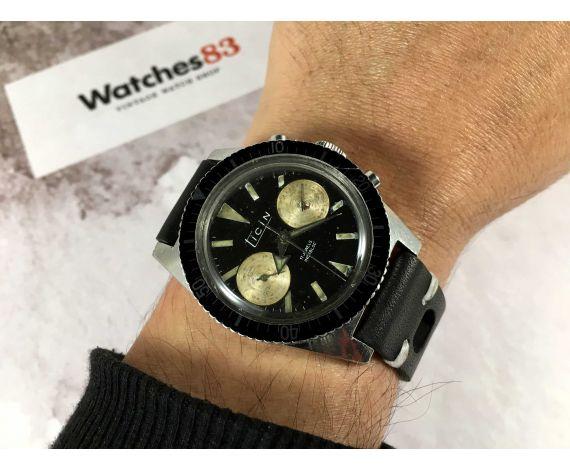 TICIN Reloj cronógrafo de cuerda Vintage Cal. Landeron 248 Bisel bidireccional 12 ATM *** DIVER ***