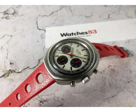 ZentRa SAVOY Reloj suizo cronografo antiguo de cuerda manual Cal Valjoux 7736 OVERSIZE *** DIAL PANDA ESPECTACULAR ***