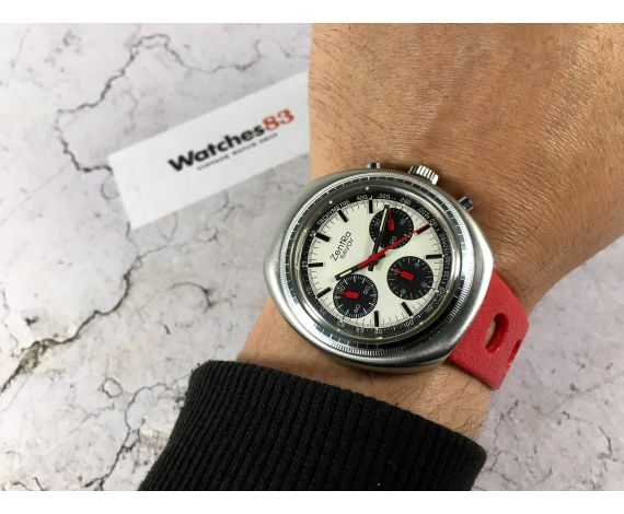 ZentRa SAVOY Swiss manual winding chronograph watch Cal Valjoux 7736 *** SPECTACULAR PANDA DIAL ***