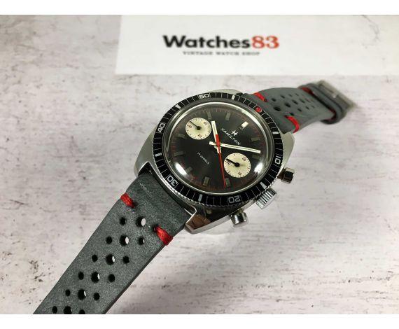 HAMILTON Ref. 647 Reloj suizo cronógrafo vintage de cuerda Cal. Valjoux 7733 *** PILOT DIVER ***