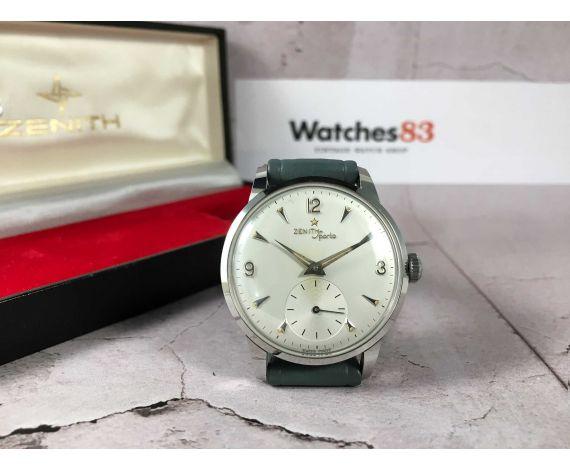 NOS ZENITH SPORTO Reloj vintage suizo de cuerda Cal. 126-6 PRECIOSO + ESTUCHE ORIGINAL *** NUEVO DE ANTIGUO STOCK ***