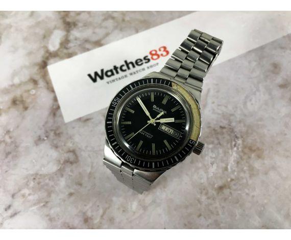 Bulova Snorkel 666 FEET Reloj suizo vintage automatico Cal 11ACACB Ref. 7202-4 *** DIVER ***