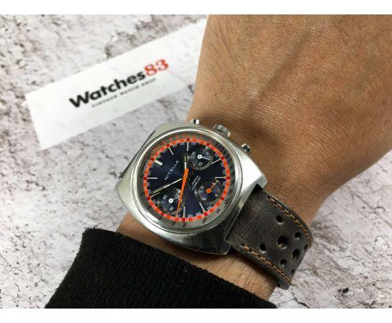 NITELLA Reloj suizo RACING cronógrafo antiguo de cuerda triple registro Cal Valjoux 7736 *** ESPECTACULAR ***