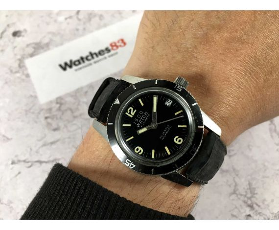 ISCO WATCH Reloj vintage suizo automático 25 jewels 20 ATM Cal. ETA 2452 *** DIVER ***