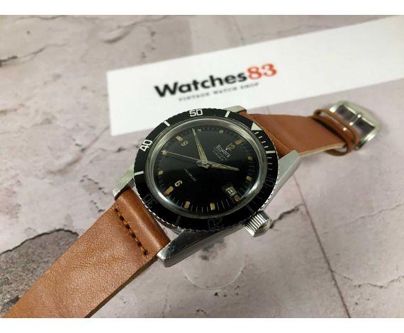 BONDIX CALYPSOMATIC Reloj suizo antiguo automático Cal AS 1700/01 DIVER 20 ATMOS *** CORONA ROSCADA ***