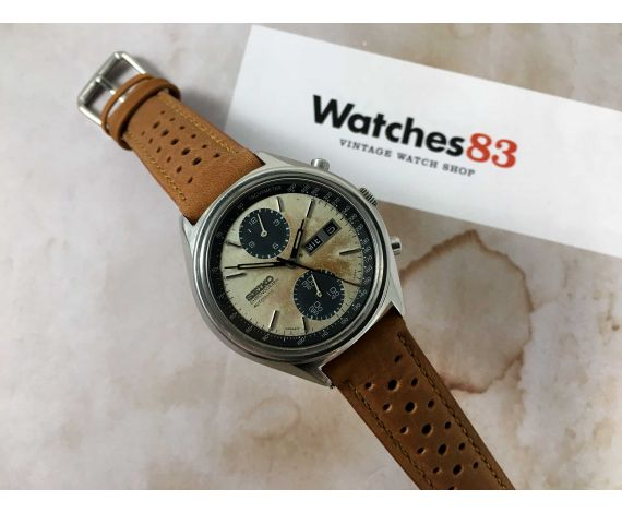SEIKO PANDA Vintage automatic chronograph watch Ref. 6138-8020 Cal. 6138-B *** TROPICALIZED PATINA ***