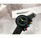 N.O.S. LIP MACH 2000 DARK MASTER Vintage manual winding chronograph watch Valjoux 7734 by Roger Tallon *** NEW OLD STOCK ***