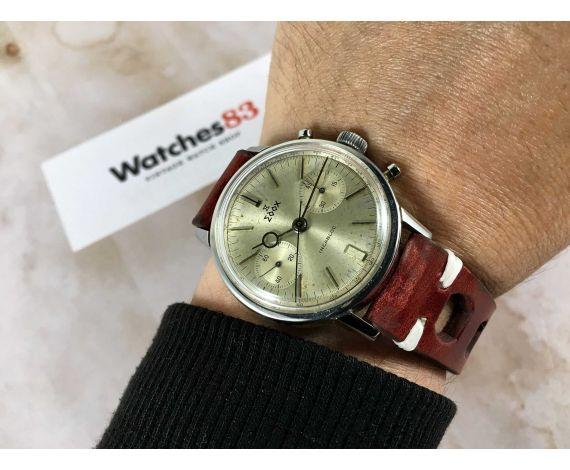 EDOX Vintage chronograph swiss hand wind watch Cal. Landeron 248 *** LOLLIPOP ***