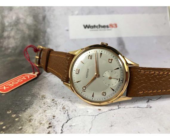 NOS KARDEX Reloj suizo antiguo de cuerda Gran diámetro ESPECTACULAR Cal. ETA 853 Plaqué OR *** NUEVO DE ANTIGUO STOCK ***