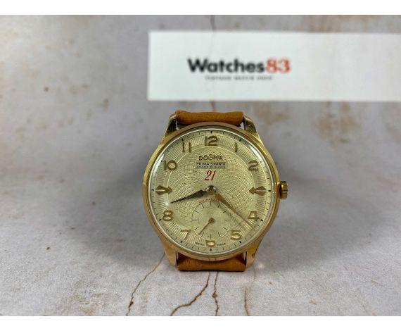 DOGMA PRIMA SPARTA Reloj suizo antiguo de cuerda Gran diámetro ESPECTACULAR Cal. ETA 853 Plaqué OR *** 21 RUBIS ***