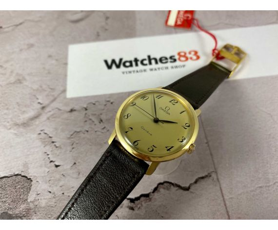N.O.S. OMEGA Geneve Vintage swiss hand wind watch Ref 131.021 Cal 601 SOLID GOLD 18K *** NEW OLD STOCK ***