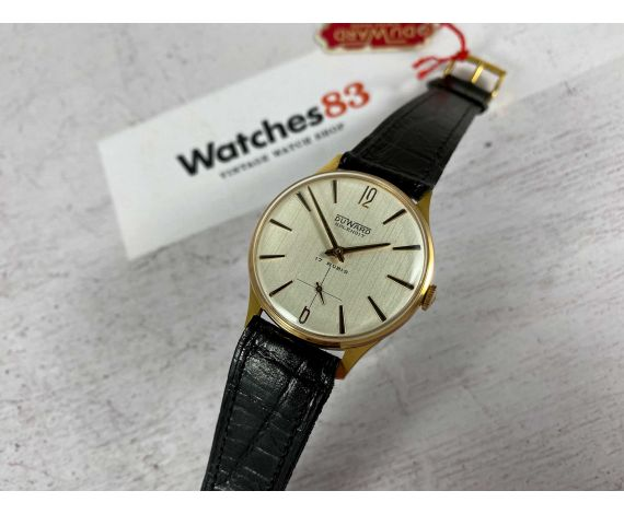 DUWARD SPLENDIT NOS Reloj antiguo suizo de cuerda Plaqué OR *** NUEVO DE ANTIGUO STOCK ***