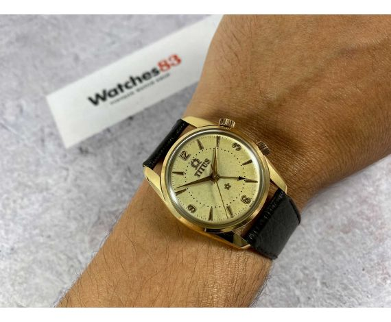 TITUS Vintage swiss manual winding alarm watch Cal. AS 1475 Ref 5898 Gold plated 20 Microns *** PRECIOUS ***