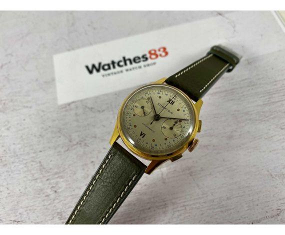 Reloj FORMIDA vintage suizo de cuerda cronógrafo Cal Landeron Plaqué OR *** PRECIOSO ***