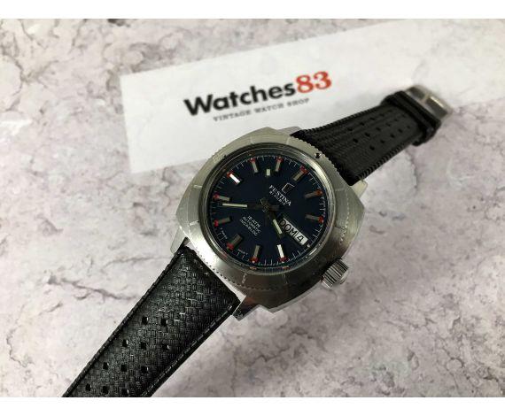 DIVER FESTINA 600 FEET 18 ATMOS Reloj vintage automático Cal. ETA 2789 Ref 1169-109 *** CORONA ROSCADA ***
