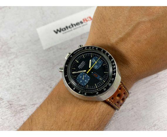 SEIKO BULLHEAD CHRONOGRAPH AUTOMATIC Ref 6138-0040 JAPAN J Vintage Reloj cronógrafo automático Cal 6138B *** DIAL AZUL ***