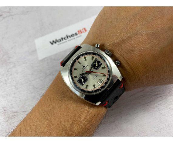 DUGENA Reloj suizo cronografo antiguo de cuerda Cal Dugena 4003 (Valjoux 7734) Ref 157 *** GRAN DIÁMETRO ***