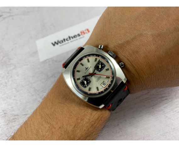 DUGENA Vintage chronograph manual winding watch Cal Dugena 4003 (Valjoux 7734) Ref 157 *** OVERSIZE ***