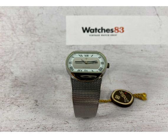 "NOS ZODIAC automatic Reloj suizo antiguo automático ""Red Dot"" Cal. LTD 34 (ETA 2671) *** NUEVO DE ANTIGUO STOCK ***"