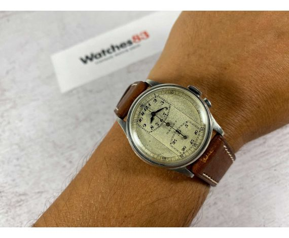 GALLET MultiChron REGULATOR Reloj Cronógrafo Vintage suizo de cuerda Cal. Venus 140 Monopulsador *** COLECCIONISTAS ***
