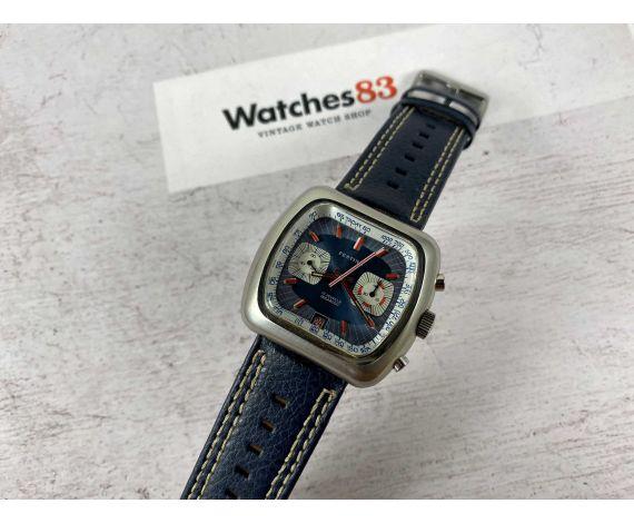 FESTINA RACING Reloj cronógrafo suizo Vintage de cuerda Cal. Valjoux 7734 *** OVERSIZE ***