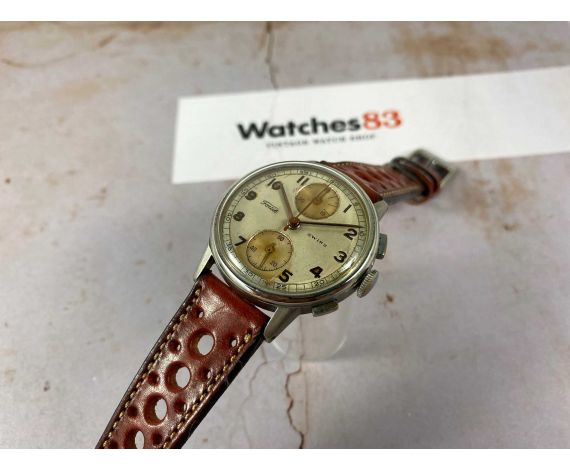 FORTIS Vintage swiss hand winding chronograph watch Cal. Valjoux 77 *** PRECIOUS PATINA ***