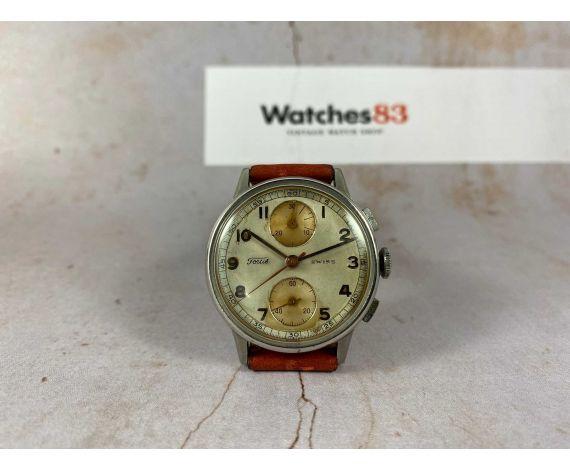 FORTIS Reloj Cronógrafo suizo antiguo de cuerda Cal. Valjoux 77 *** PRECIOSA PÁTINA ***