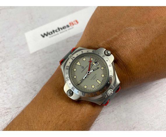 "CANDINO COMPASS 100M DIVER Vintage Swiss quartz ""Flip-out"" compass watch. GIANT *** RARE ***"