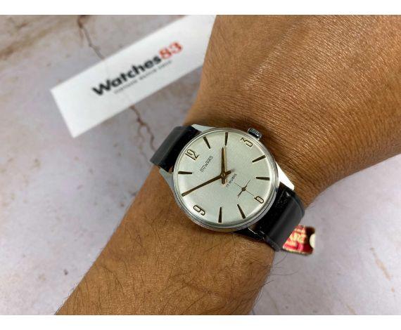 NOS DUWARD Reloj suizo antiguo de cuerda 17 rubis NUEVO DE ANTIGUO STOCK *** PRECIOSO ***