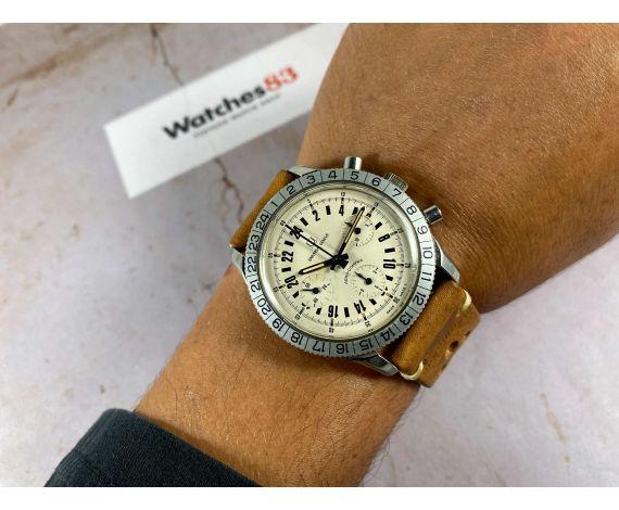 UNIVERSAL GENEVE AERO-COMPAX Vintage swiss hand winding chronograph watch 24H Cal. UG 90 Venus 178 *** COLLECTORS ***