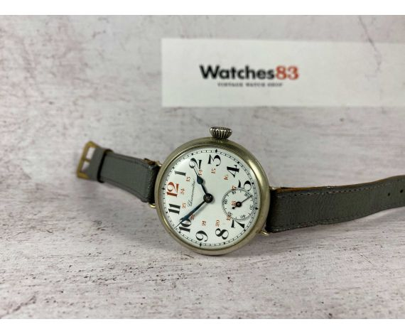 CHRONOMÉTRE Reloj de trinchera vintage suizo de cuerda. ÚNICO por su tamaño. Dial de Porcelana *** COLECCIONISTAS ***