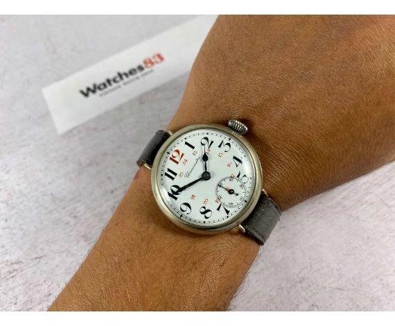 CHRONOMÉTRE Vintage swiss hand winding trench watch. UNIQUE for its size. Porcelain dial *** COLLECTORS ***