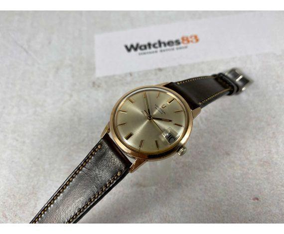 UNIVERSAL GENEVE DATE Reloj vintage suizo antiguo de cuerda Cal 1107-1 Plaqué OR *** PRECIOSO ***