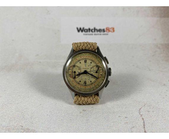 Reloj ZENITH Compur cronógrafo suizo de cuerda vintage Cal 146 Pátina espectacular *** COLECCIONISTAS ***