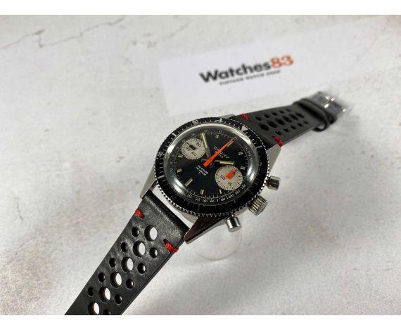 Cauny Crono 20 ATMOS Reloj cronógrafo antiguo suizo de cuerda Cal. Valjoux 7730 Dial Panda reverso *** ESPECTACULAR ***