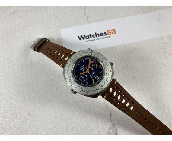 HEUER CALCULATOR Vintage Reloj Cronógrafo suizo automático Cal. 12 Ref. 110.633 *** COLECCIONISTAS ***
