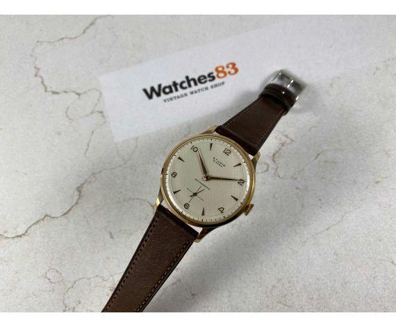 NOS STUDIO Reloj vintage suizo de cuerda Cal Vulcain 590 Oversize Plaque OR DIAL ESPECTACULAR *** NUEVO DE ANTIGUO STOCK ***