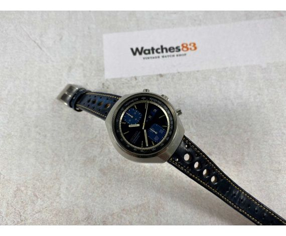 SEIKO JOHN PLAYER Ref. 6138-8030 chronograph automatic watch Cal. 6138-B JAPAN *** BLUE DIAL ***