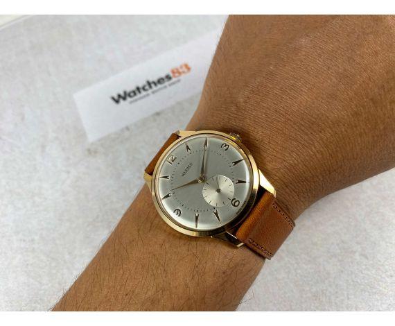 NOS KARDEX Reloj suizo antiguo de cuerda ESPECTACULAR Cal. FHF 26 Plaqué or *** NUEVO DE ANTIGUO STOCK ***