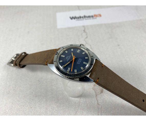 RUWAL Vintage swiss manual winding watch Aquaproof 50 meters Cal AS 1950/51 *** DIVER ***