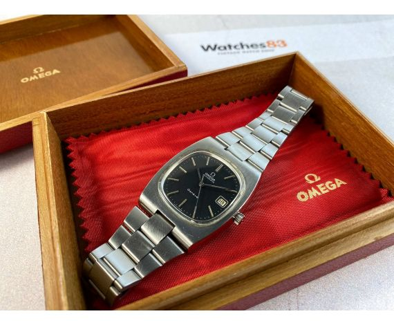 OMEGA GENÈVE Reloj suizo vintage automático DIAL NEGRO Cal. 1012 Ref. 166.0191-366.0835 *** CON ESTUCHE ***