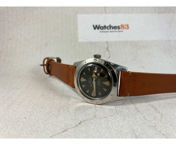 JUPEX MONARCH-SEA Vintage swiss automatic watch DIVER 15 ATMOSPHERES Cal. ETA 2452 LOLLIPOP BROAD ARROW *** DIAL TROPICAL ***