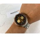 SEIKO SPEEDTIMER 1976 Vintage automatic chronograph watch Cal 6138 B JAPAN J 6138-0040 BULLHEAD *** BROWN DIAL ***