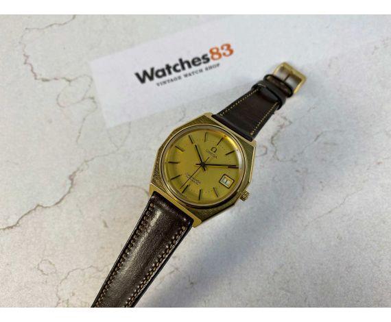 Omega Seamaster 1978 Reloj suizo antiguo automático Cal 1010 Ref 166.0257 Plaqué OR G20 *** ESPECTACULAR ***