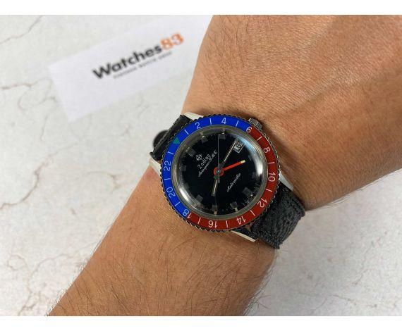 ZODIAC AEROSPACE GMT Vintage swiss automatic watch DIVER 20 ATM Cal. 70-72 Ref. 752 934 PEPSI BEZEL (BAKELITE) *** MINT ***